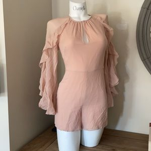 CHLOE PINK RUFFLE ROMPER small made in Italy